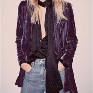 Free People Yesterday's Muse Purple Blazer S New